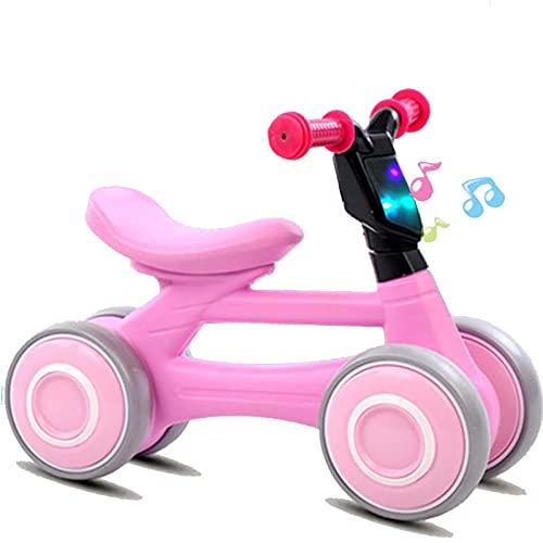 LIYGHFRTIO Bicicleta sin Pedales, Triciclo Bebe para los Niñas y Niños, Correpasillos Bebe Adecuado para Niños de 12 Meses, 1-4 Años Triciclo Bici con Sonido (Color:Rosado)