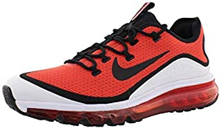 Mens AIR MAX More Fabric Low Top Lace Up, Red/White/Black, Size 11.5