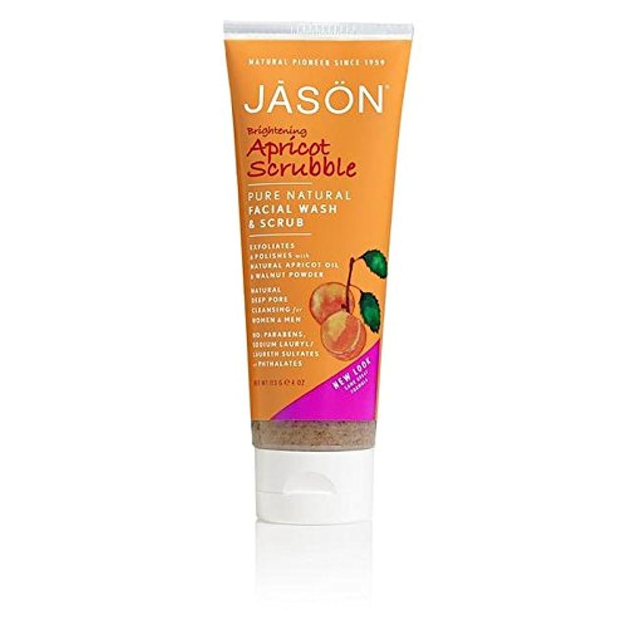 指香り音声ジェイソン?アプリコット洗顔&スクラブ128ミリリットル x4 - Jason Apricot Facial Wash & Scrub 128ml (Pack of 4) [並行輸入品]