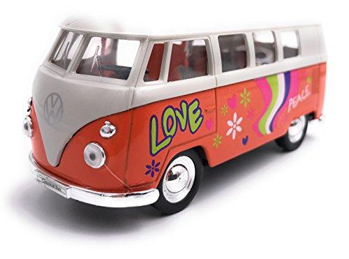 Welly Licencia de Auto Modelo de autobús Bulli T1 Producto 1: 34-1: 39 OVP Orange