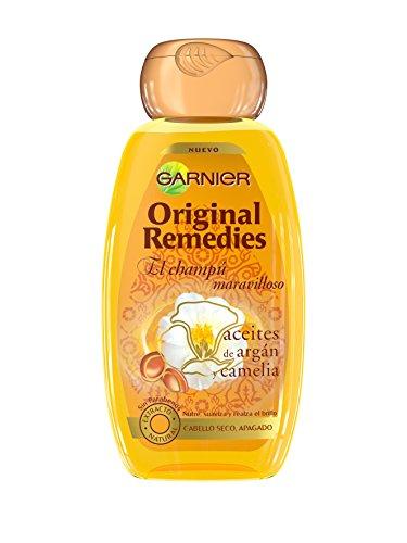 Garnier Shampoo, Original Remedies Champú Argán Y Camelias, 250 ml