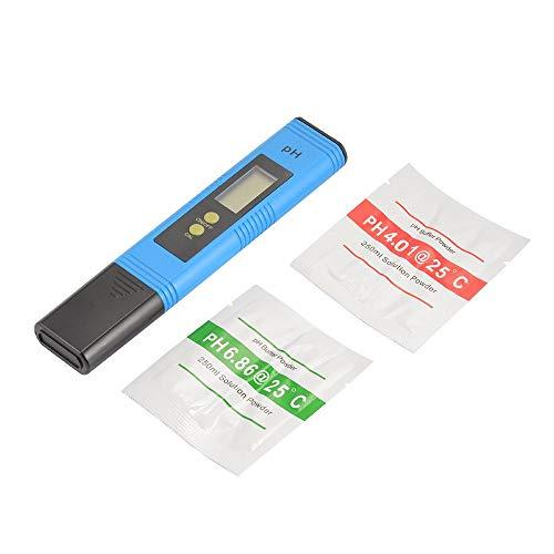 ZBLighting Appareil de Contrôle numérique de Ph du Mètre 0.01 Res 0-14.0 avec la Poudre de Tampon d'étalonnage pour la Piscine hydroponique d'eau Potable