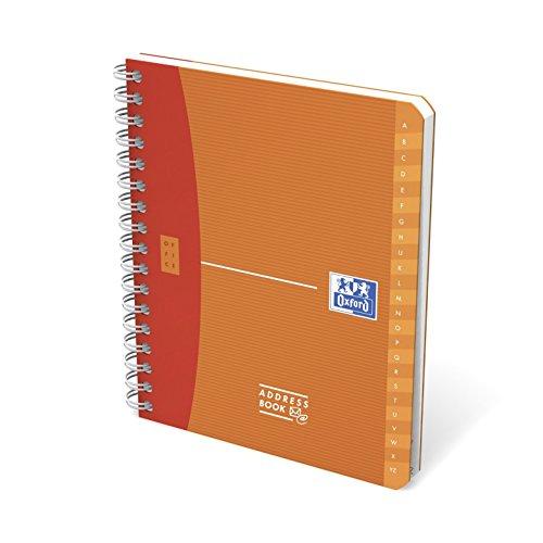 Oxford 100101197 - Rubriche Telefoniche, Poliprop Traslucido 12 x 15 cm, 80 Fogli, Pacco da 10 Pezzi, Arancio, Lampone, Verde, Blu