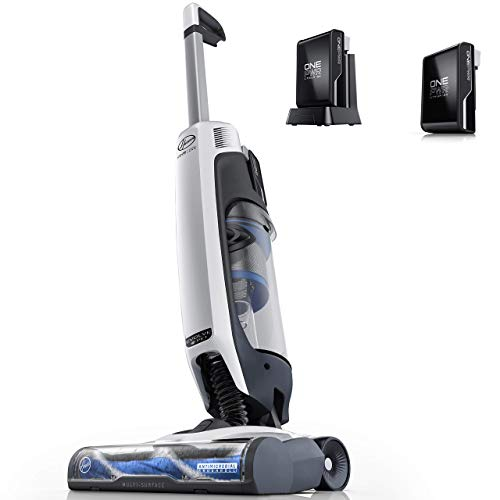Hoover ONEPWR Evolve Pet Cordless Small Upright Vacuum Cleaner with Extra Battery, Lightweight Stick Vac, BH53420PCE, White
