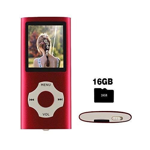 Ueleknight Portable Digital Music Player auch als Sprachaufzeichnung / FM-Radio / Video / E-Book-Reader, 1,8 Zoll LCD-Bildschirm Economic MP3 Player-Rot