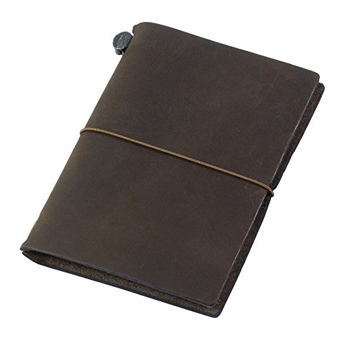 トラベラーズノート 手帳 2018年 1月始まり ウィークリー パスポートサイズ 茶 27653006