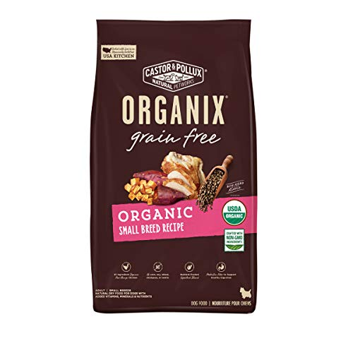 Castor & Pollux Organix Grain Free Organic Small Breed Recipe, Dry Dog Food - 4 Lb Bag (Pack of 1)