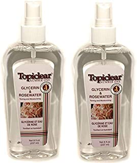 Topiclear Number One Glycerin & Rosewater Toning and Moisturizing Spray 8fl. oz./236 ml Set of 2
