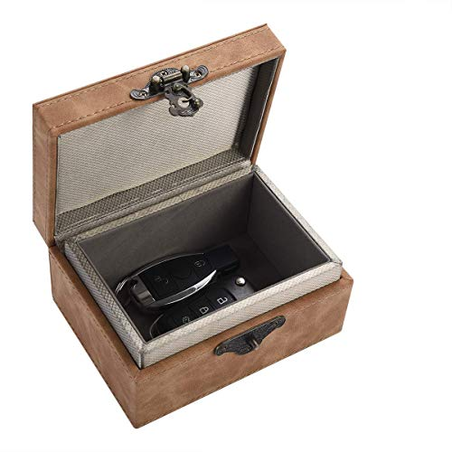 MONOJOY Keyless Go Schutz Autoschlüssel,Faraday Box für Autoschlüssel große Autoschlüssel Blockierbar RFID Blocker Box Keyless Go Schutz Autoschlüsselbox Aufbewahrungsboxen für Schlüssel Sicherer (L)