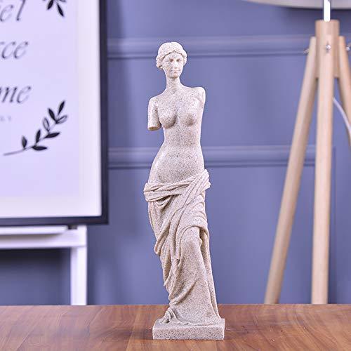 PDXGZ Statue Antike Venus Michelangelo, Sandstein Harz-Verfahren, Kreative Dekoration des Europäischen Artweinkabinettwohnzimmer-Bürohauses,B