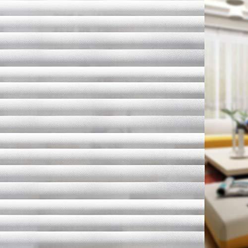 Rabbitgoo Estática Ventana Película Privacidad Película de Rayas de Baño Persianas Opaca No Pegamento Anti UV 44.5X 200CM