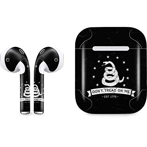 Skinit Decal Audio Skin for Apple AirPods with Lightning Charging Case - Officially Licensed Skinit Originally Designed Dont Tread On Me Est 1775 Design