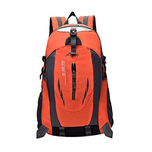 Yowablo 40L wasserdichter Rucksack Rucksack Wandern Camping Trekkingtasche Laptoptasche Sport (40L,Orange)