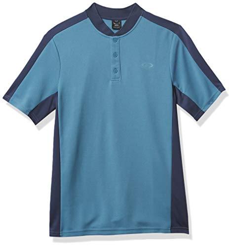 Oakley Men's Bomber Collar Piquet Polo, Alien Blue, XL