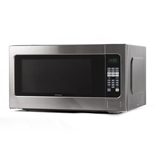 Westinghouse WCM22120SSM 1200 Watt Counter Top Microwave Oven, 2.2 Cubic Feet, Stainless Steel Front, Black Cabinet
