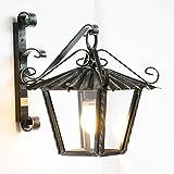 Lanterna da esterno in ferro battuto