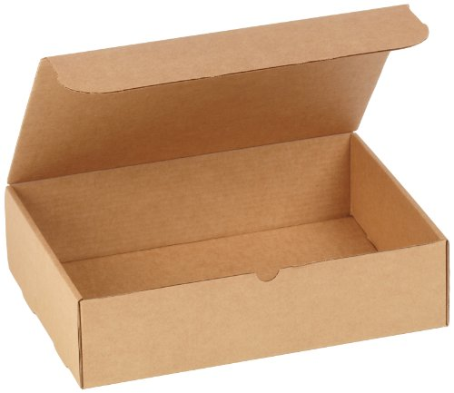 Aviditi Brown Kraft Literature Mailing Boxes, 15 1/8 x 11 1/8 x 4 Inches, Pack of 50, Crush-Proof, for Shipping, Mailing and Storing