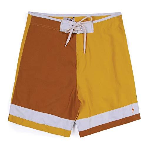 L.Bolt Triton Block Nugget Pantalones Cortos de Surf, Hombre, Multicolor, 32