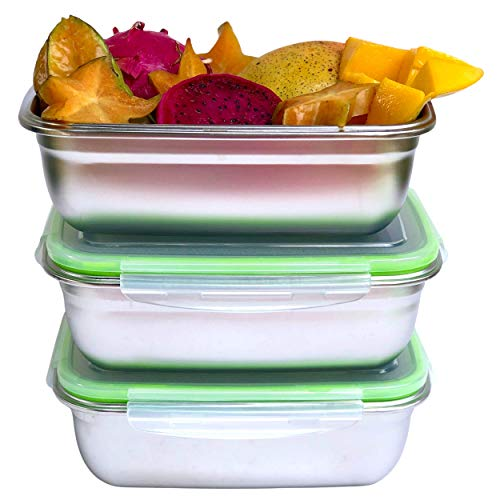 JaceBox Xlarge - Juego de 3 recipientes de comida (1800 ml)