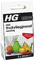 HG fruitvliegjesval navulling, Wit, 2x20ml