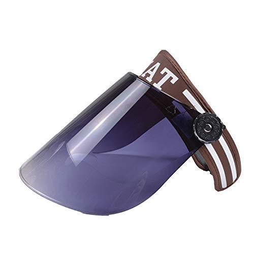 JXFM Sun hat dames zonnebrandcrème hoed gezicht UV bescherming zomer outdoor fietsen veelzijdige motor auto zonnehoed GHAT-koffie kleur