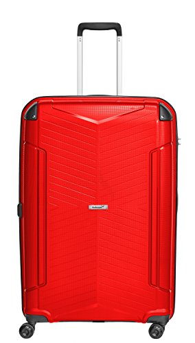 Packenger Koffer - Silent - (XL), Rot, 4 Zwillingsrollen, 109 Liter, 5,0Kg, Koffer mit TSA-Schloss, Polypropylen, Reise Trolley