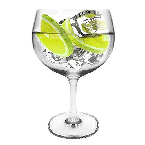 Ginsanity Tritan Crystal Coupe de Verres Gin & Tonic Ballon Cocktail/Lunettes dans Une Boîte Cadeau [696ml]