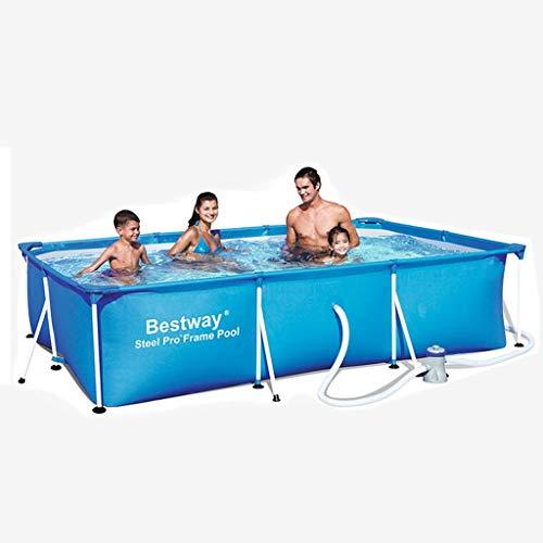 LMJ Piscinas inflables de tamaño Completo Espesar Kiddie Pool SRECREATAL Uso Piscina para Piscina DE JARDÍN DE JARDÍN DE Familia Piscina DE Piscina APARTADORES (Color : Blue)