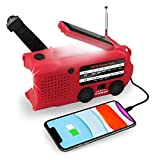 Emergency Radio 5000mAh,YOU&AI Solar Hand Crank AM/FM//NOAA Weather Radios with Reading Lamp, LED Flashlight,SOS Alarm,Cellphone...