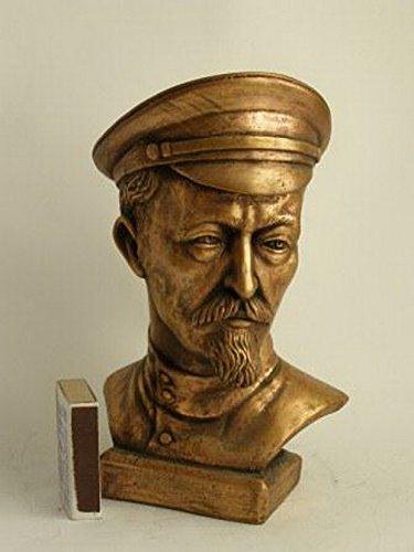 soviética ruso Comunista KGB Fundador Felix Dzerzhinsky Lenin Busto Estatua H = 18cm