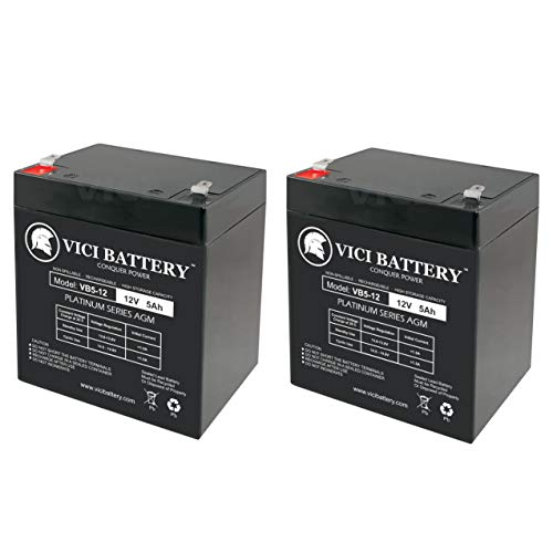 VICI Battery 12V 5Ah Scooter Battery Replace 4.5Ah Enduring 6FM4.5, 6 FM 4.5-2 Pack Brand Product