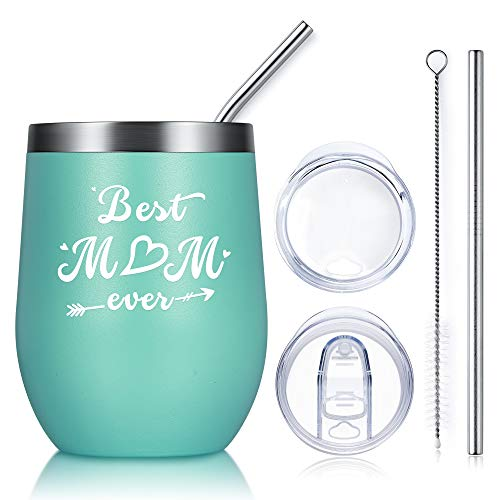 Birthday Gifts for Mom from Daughter Son-Best Mom Ever Wine Tumbler Perfect Christmas Gifts Idea for Mom Gifts