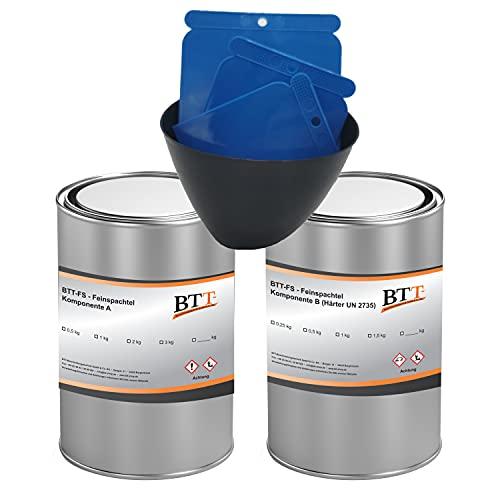 BTT-FS Epoxidharz Spachtel (0,75kg) Reparaturspachtel für Autoreparatur und Bereichsausbesserung