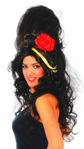 Parrucca pop star per travestimento Amy Winehouse