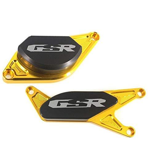 for Suzuki GSR600 GSR400 GSR750 GSR 600 400 750 Motorrad-Zubehör Motorcrashguard Statordeckels Slider-Schutz (Color : Gold)