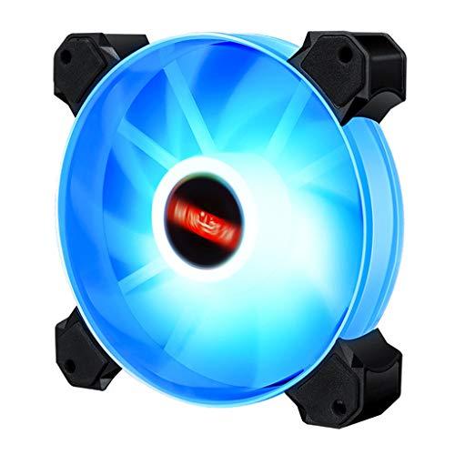 Gazechimp Enfriador de CPU de Ventilador de Refrigeración de Caja de Ordenador Redonda LED RGB de 120 Mm X 120 Mm de Bajo Ruido para Ordenadores - Luz Azul 01