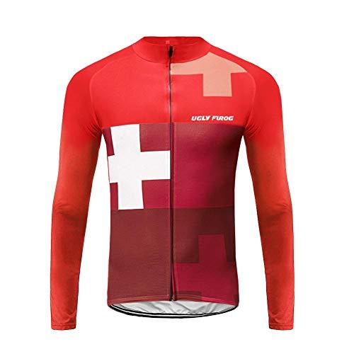 UGLY FROG Newest MTB Manga Larga del Otoño De Los Hombres Camisetas De Ciclismo Carreras Maillots Bicicleta De Carretera Ropa