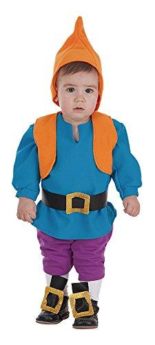 Creaciones Llopis - Disfraz de enanito para bebe hasta 18 meses, color azul, talla única