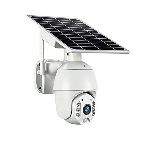 ZJ 4G SIM 1080p HD Panel Solar De HD Vigilancia Al Aire Libre Impermeable WiFi IP Cámara Inteligente Hogar De Dos Vías Voz Intrusión Alarma Monitor De Seguridad(Color:4G)