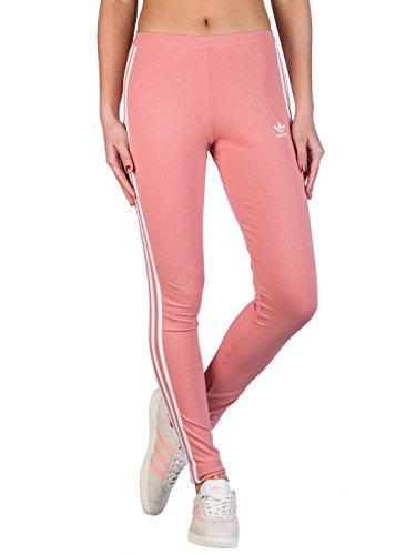 adidas Damen 3 Streifen Leggings, Ash Pink, 36