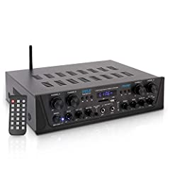 500 WATT POWER: The Pyle 4 Channel Bluetooth Home Audio Amplifier is perfect for your PA and home theater entertainment. It gives you 500W peak power which can be used for multi speakers w/ 4 8 ohms impedance allowing you to enjoy high quality audio ...