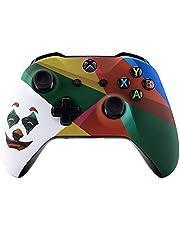 eXtremeRate Carcasa para Mando Xbox One Placa Delantera Funda Frontal Housing Cover Case Tacto Suave Shell Faceplate Repuestos para Controlador Xbox One S&One X-Model 1708(Payaso Nuevo)
