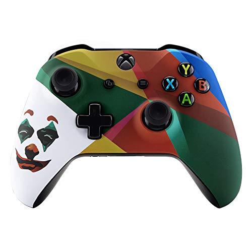 eXtremeRate Cover Joystick Custodia Coprtura Frontale Scocca Guscio Ricambio per Xbox One S X Controller Model 1708(Joker 2019)