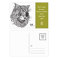 猫は人間のペンキの1つの目 詩のポストカードセットサンクスカード郵送側20個