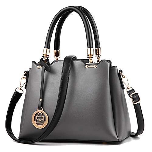 WDMUMU Vrouwen klassieke handtas mode schoudertas gemaakt van zacht PU-leer goedkope emmer tas