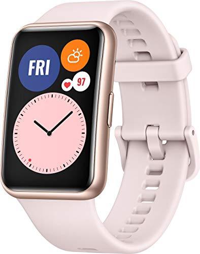 HUAWEI WATCH FIT Smartwatch, 1,64 Zoll AMOLED-Display, Quick-Workout-Animationen, 10 Tage Akkulaufzeit, 96 Trainingsmodi, GPS, 5ATM, SpO2-Sensor, Herzfrequenzmessung, Sakura Pink