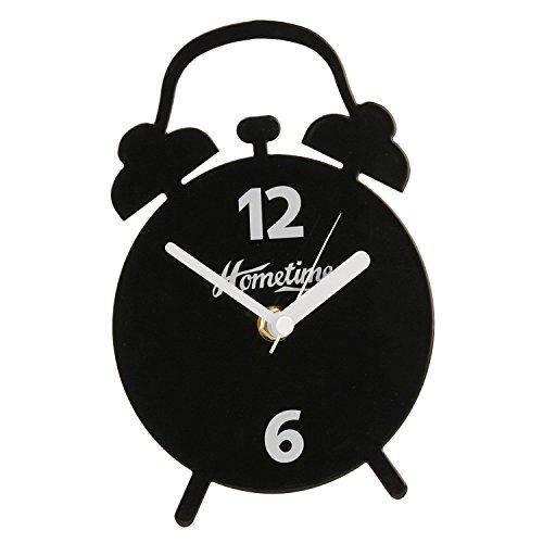 Moderne Metal Mantel Uhr Doppelte Glockenform (Schwarz)