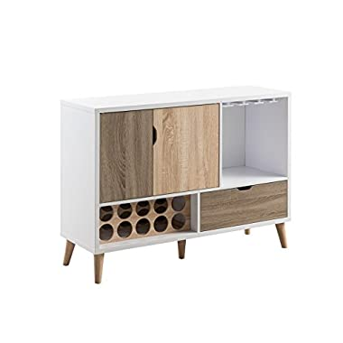 HOMES: Inside + Out Halloway Mid-Century Modern Buffet Server, Multicolor