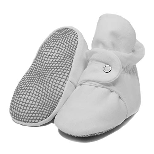 Organic Cotton Baby Booties, Non Skid, Soft Sole, Stay On Baby Shoes, House...