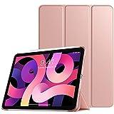TiMOVO Funda Compatible con Nuevo iPad 10.9 Inch, iPad Air 4.ª Generación 2020, Tableta Cubierta Inteligente Trasera con Despertar/Dormir Auto, Protectora Plegable - Oro Rosa